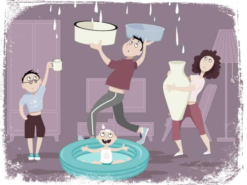 O que significa sonhar com vazamento de água na sala
