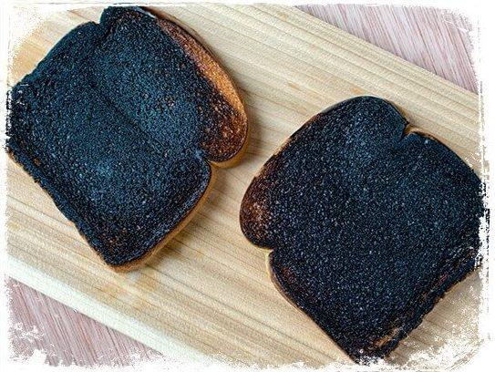 Sonhar com pão queimado
