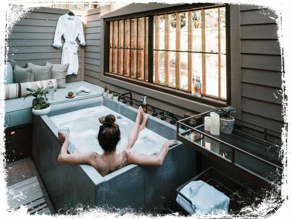 sonhar tomando banho numa banheira de rico ou spa