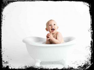 sonhei com bebe pequeno na banheira