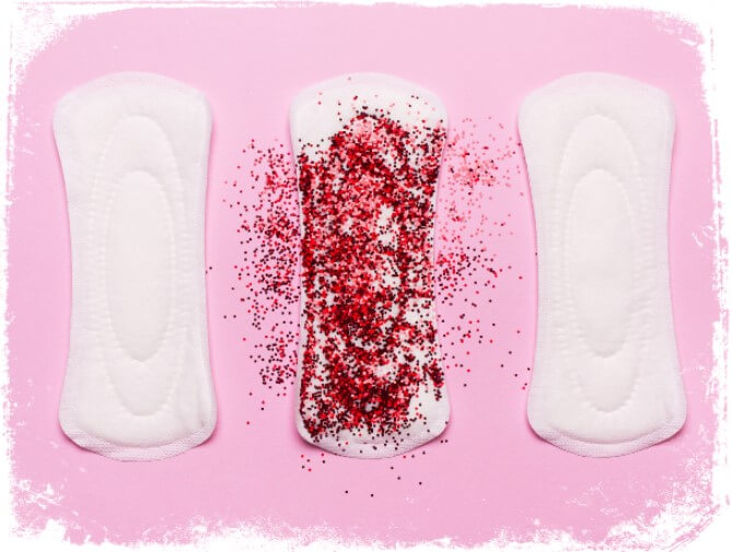 Sonhar com sangue de menstruação no absorvente
