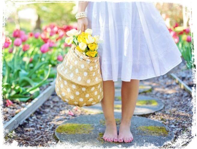 Sonhar caminhando descalço no verão