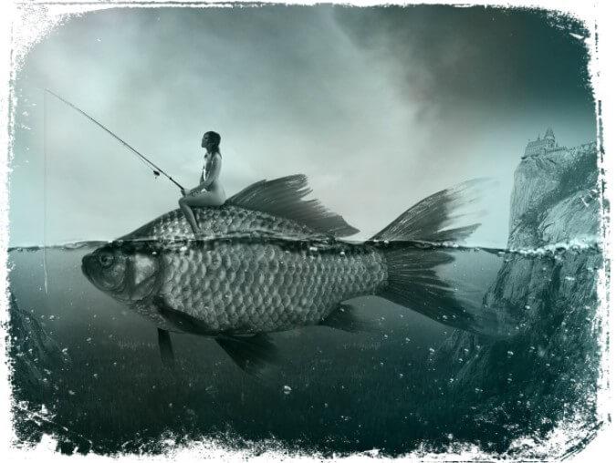 o que significa sonhar pescando