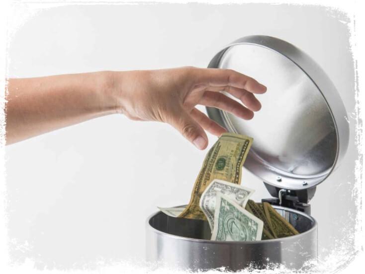 sonhei com dinheiro no lixo o que significa