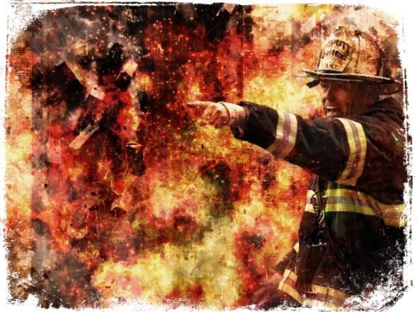 Sonhar sendo resgatado por um bombeiro