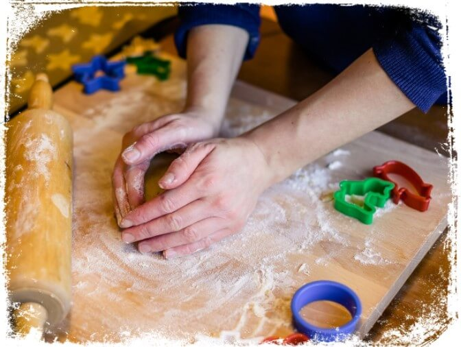 Sonhar fazendo biscoitos