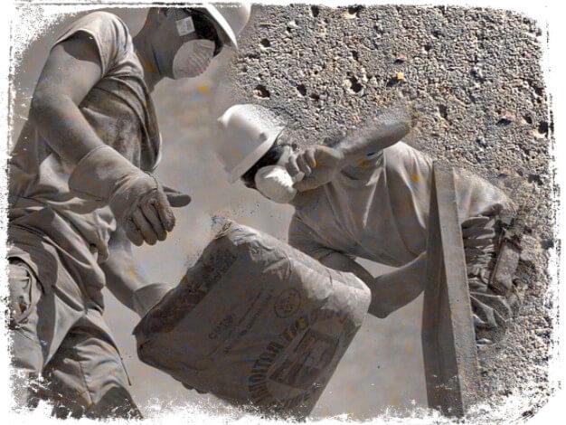 Sonhar que está trabalhando com cimento
