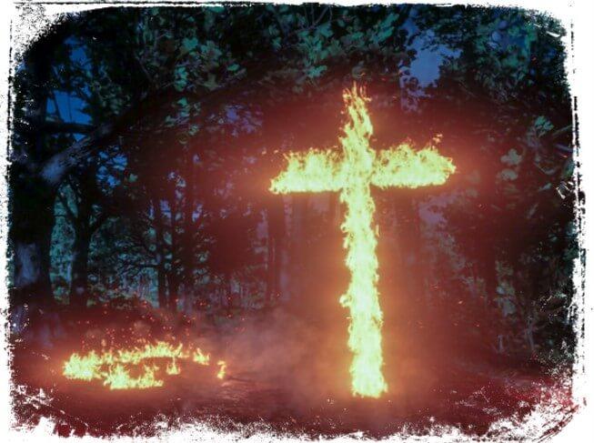 Sonhar com uma cruz que queima