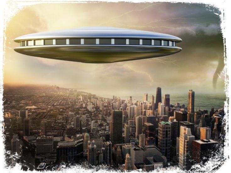 Sonhar com disco voador sobrevoando a sua cidade