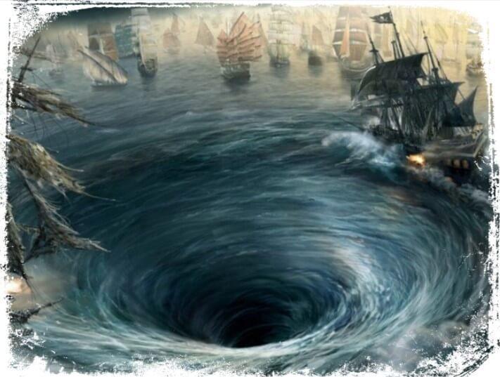 Sonhar com redemoinho de água no mar