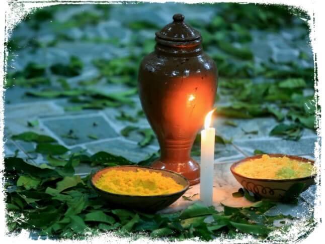 Sonhar com prato de oferendas e velas