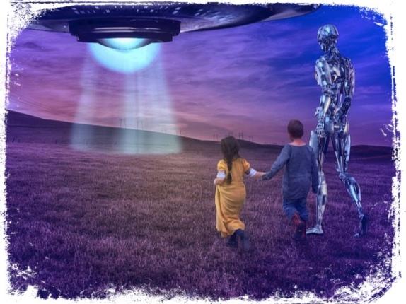 Alienígena grande em sonho
