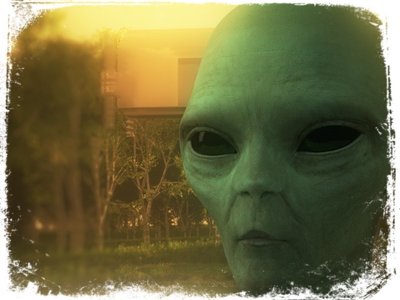 Alienígena verde em sonho