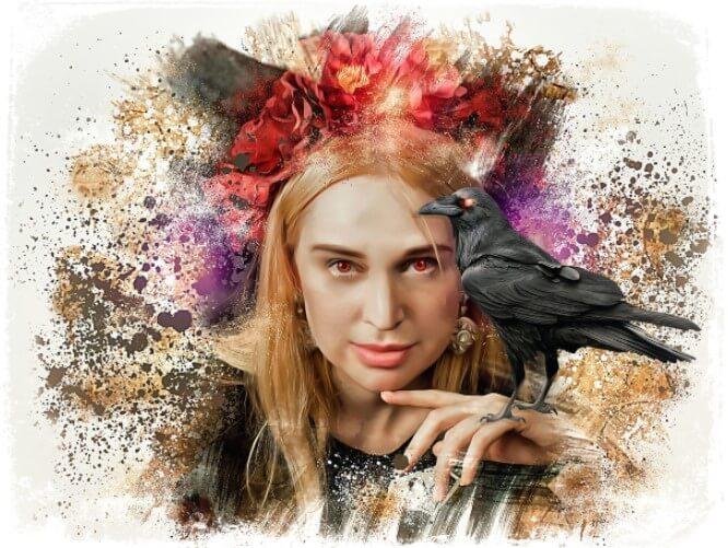 Sonhar que você é um corvo