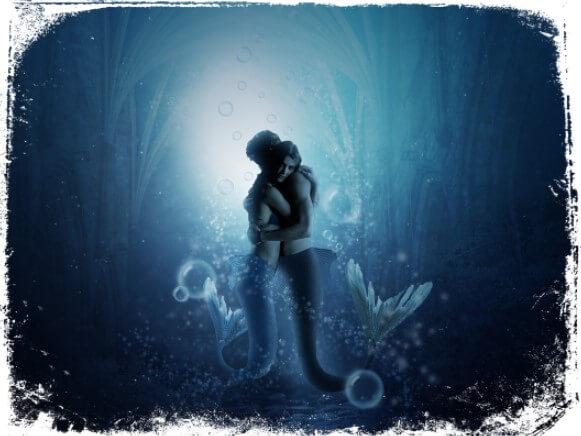 Sonhar que abraça e beija uma sereia