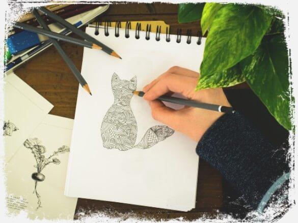 Sonhar com caderno de desenho