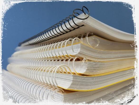Sonhar com vários cadernos