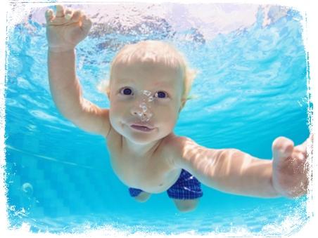 O que significa sonhar com bebê mergulhando