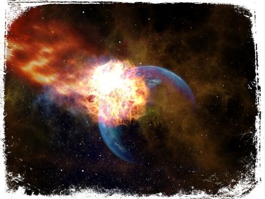 Sonhar com meteoro atingindo a terra