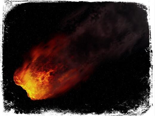 Sonhar com meteoro de fogo