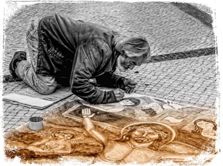 Sonhar com artista de rua